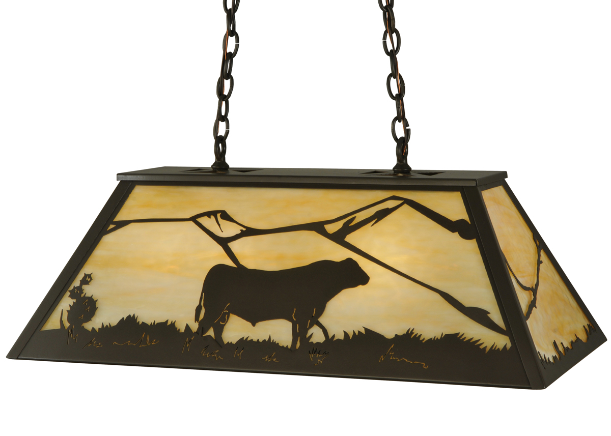 Meyda Tiffany 133345 33 Inch Length Steer Oblong Pendant