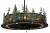Meyda Tiffany (138252) 48 Inch Width Tall Pines with Up & Downlights & LED Spotlight Chandel-Air