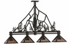 Meyda Tiffany (143959) 60 Inch Length Tall Pines 4 Light Island Pendant