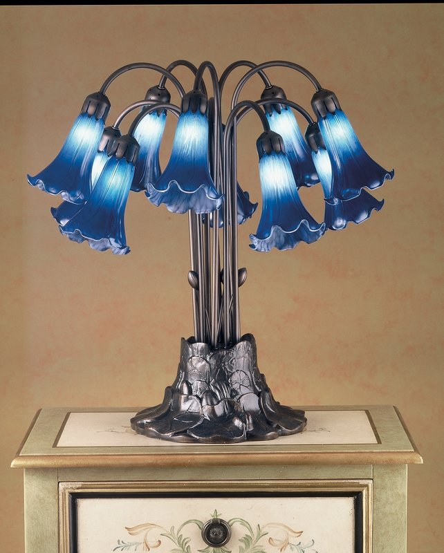 Meyda Tiffany (14397) 22 Inch Height Blue Pond Lily 10