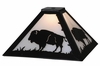 Meyda Tiffany (144469) 12 InchSq Buffalo Replacement Shade