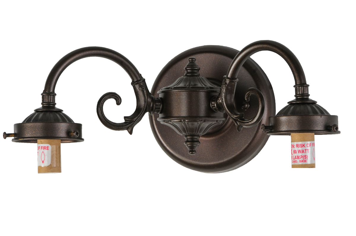 Meyda Tiffany (144566) 2 S-Arm Sconce/Plain Fitters/Rot Switch