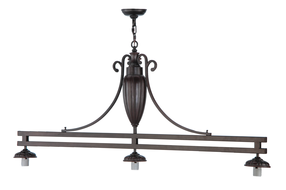 Meyda Tiffany (144875) 56 Inch Length 3 Light Custom Island Pendant Hardware