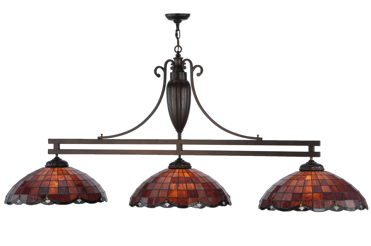 Meyda Tiffany 144877 70 Inch Length Elan 3 Light Custom