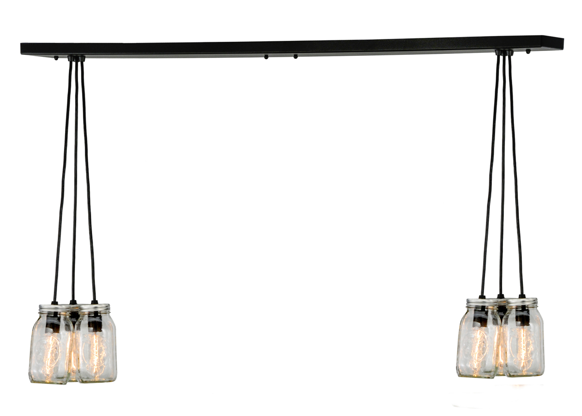 Pendant lighting length : Meyda tiffany inch length mason jar light