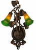 Meyda Tiffany (16573) 11 Inch Width Amber/Green Pond Lily 2 Light Wall Sconce
