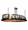 Meyda Tiffany (17239) 48 Inch Length Mountain Pine Oval Inverted Pendant