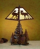 Meyda Tiffany (32524) 21 Inch Height Moose On The Loose Table Lamp