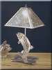 Meyda Tiffany (32531) 21 Inch Height Leaping Trout Table Lamp
