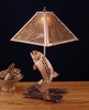 Meyda Tiffany (32532) 21 Inch Height Leaping Trout Table Lamp