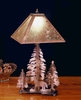 Meyda Tiffany (32592) 21 Inch Height Northwoods Wolf On The Loose Table Lamp
