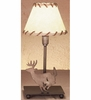 Meyda Tiffany (49799) 13 Inch Height Lone Deer Faux Leather Accent Lamp
