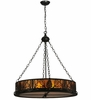 Meyda Tiffany (50114) 16 Inch Width Mountain Pine Inverted Pendant