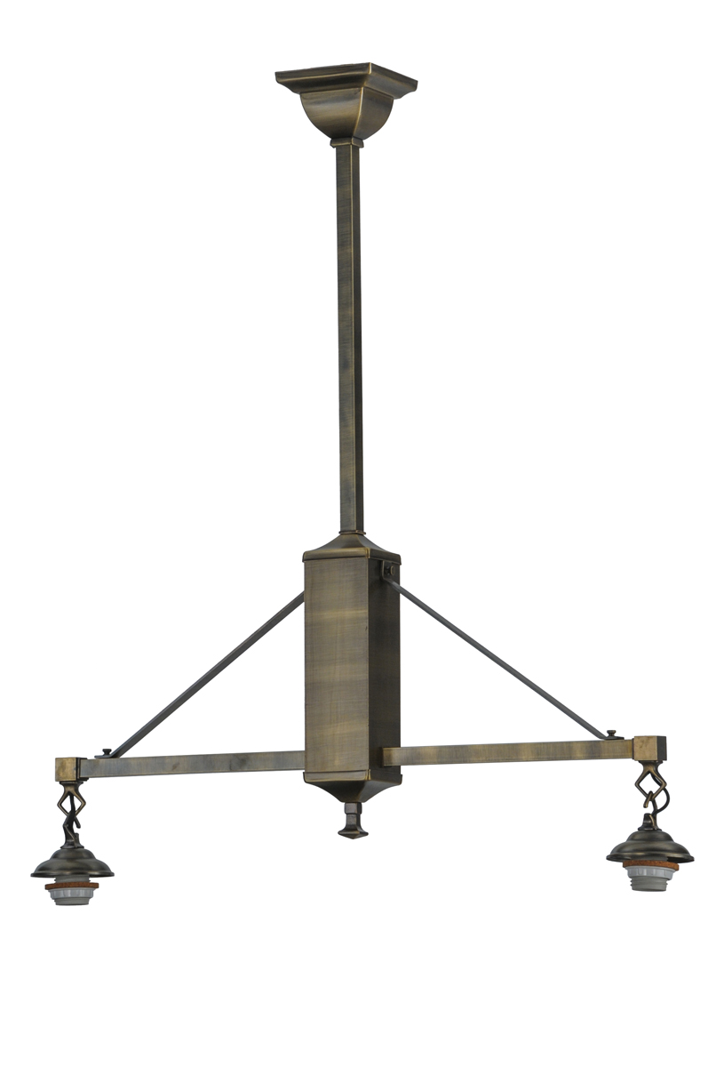 Meyda Tiffany (52169) 28 Inch Length Mission 2 Light with Hooks Island Pendant Hardware