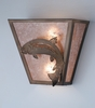 Meyda Tiffany (82363) 13 Inch Width Leaping Trout Wall Sconce