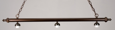 Meyda Tiffany (98718) 47 Inch Length Ribbed 3 Light Island Hardware