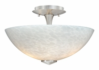 "Vaxcel Lighitng (C0004) Milano 13"" Ceiling Light with White Umbra Glass"