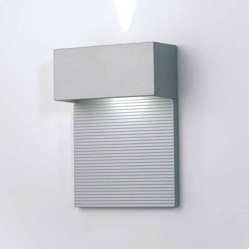 Architectural Led Wall Sconces : Zaneen Architectural Mini-Led Wall Sconce In Metallic Gray Made In Spain - D9-3123