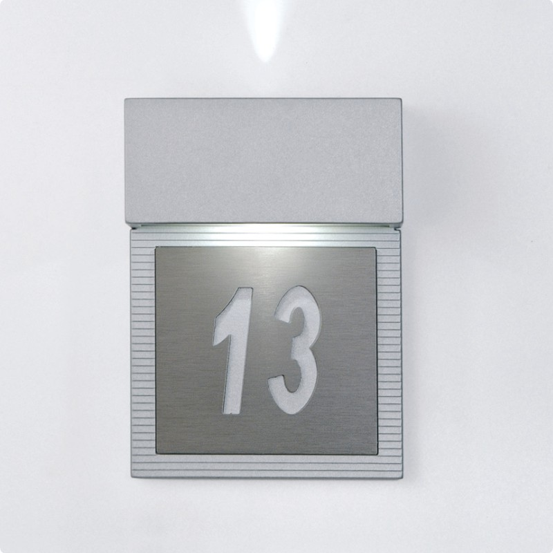 Architectural Led Wall Sconces : Zaneen Architectural Mini Signal-Led Wall Sconce In Metallic Gray Made In Spain - D9-3127