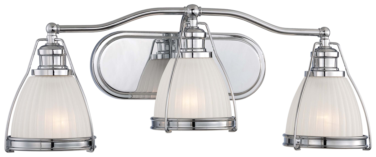 Minka lavery 5793 77 3 light bath vanity fixture for Minka bathroom light fixtures