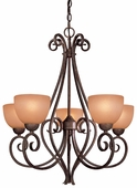 Minka Lavery (725-355) Caspian 5 Light Chandelier