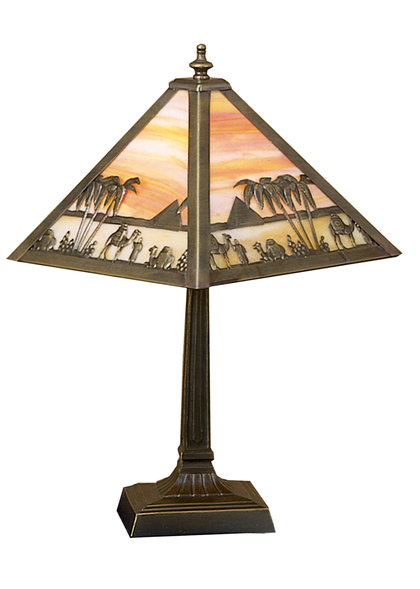 Meyda tiffany 26843 10 inch height camel mission accent lamp for 10 inch table lamp
