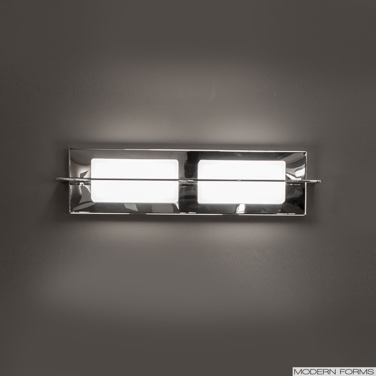 Contemporary Led Vanity Lights : Modern Forms (WS-47520) Razor 2-Light LED Vanity