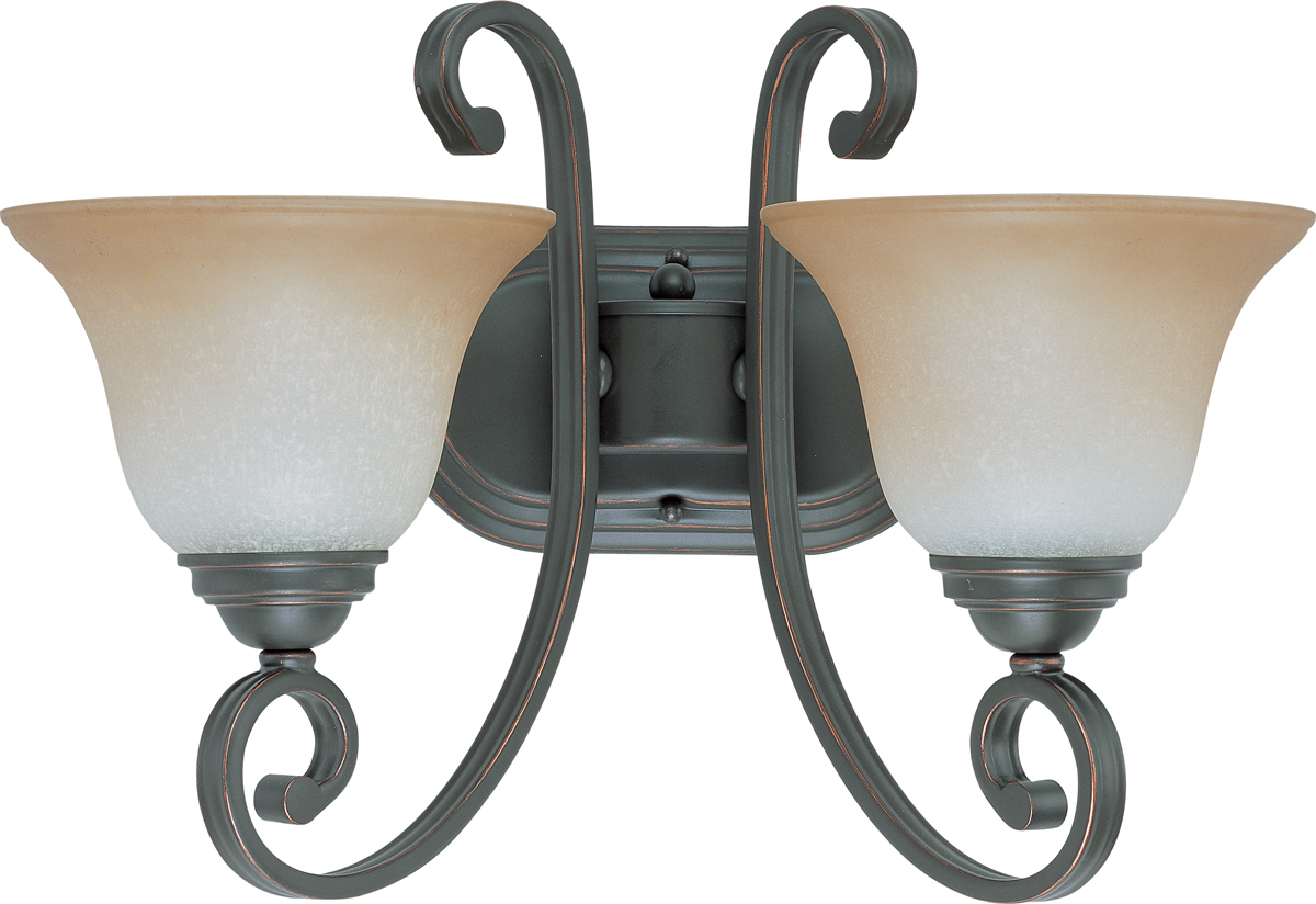 Glass Vial Vanity Light : Nuvo Lighting (60-2756) Montgomery 2 Light Vanity with Champagne Linen Glass