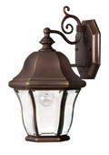 Hinkley Lighting (2330CB) Monticello Small Outdoor Wall Sconce in Copper Bronze with Clear, Bent, Beveled & Bound Shade