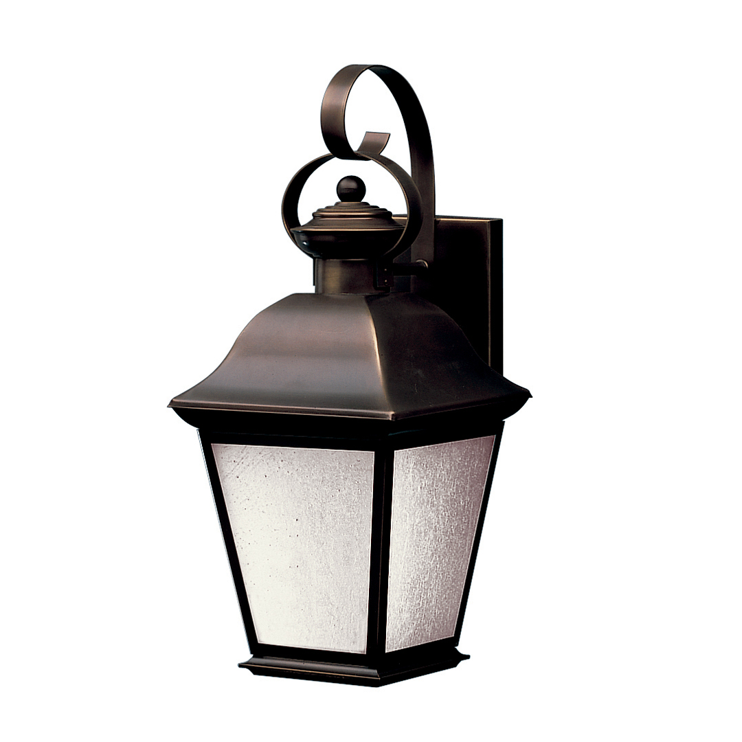 Outdoor Wall Sconce Kichler : Kichler Lighting (10908OZ) Mount Vernon 1-Light Fluorescent Medium Outdoor Wall Sconce in Olde ...