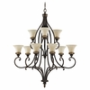 Murray Feiss (F2225) Drawing Room 9 Light Multi-Tier Chandelier