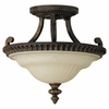 Murray Feiss (SF238) Drawing Room 14-1/2 Inch Semi-Flush Mount