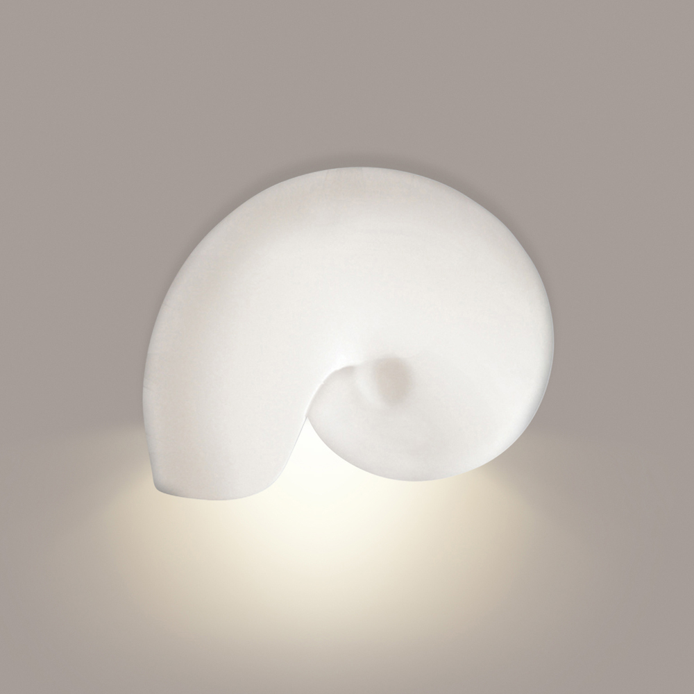 Nautilus Downlight Wall Sconce 1 Light Fixture shown in Bisque by A19 Lighting - A19-1103D