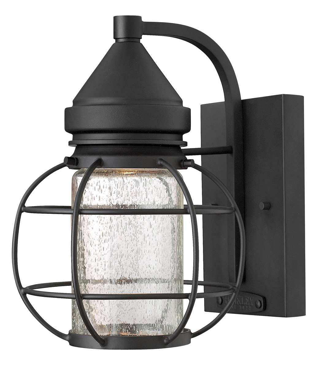 Outdoor Wall Sconces Black : Hinkley Lighting (2250BK) New Castle Small Outdoor Wall Sconce in Black