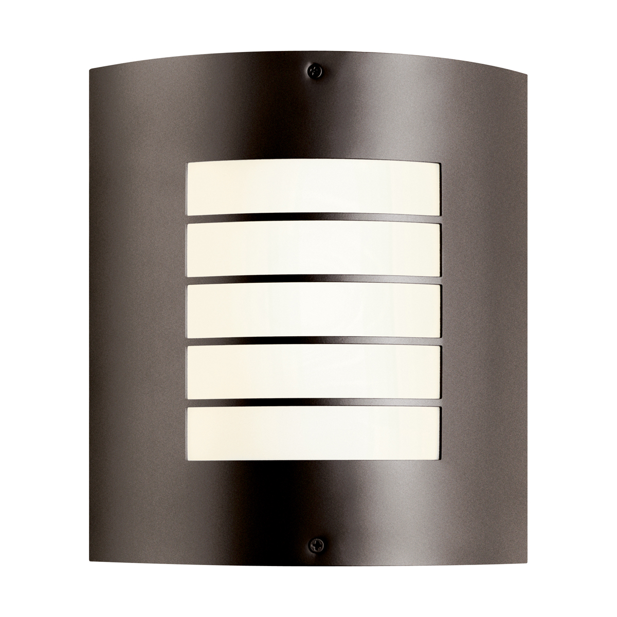 Fluorescent Exterior Wall Lights : Kichler Lighting (10640AZ) Newport 1-Light Fluorescent Outdoor Wall Sconce in Architectural Bronze