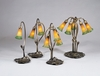 Meyda Tiffany (12386) 16 Inch Height Amber/Green Pond Lily Accent Lamp