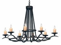 2nd Avenue Lighting (01.0770.48.OVAL) Octavia Signle Tier Chandelier shown in Chestnut Finish