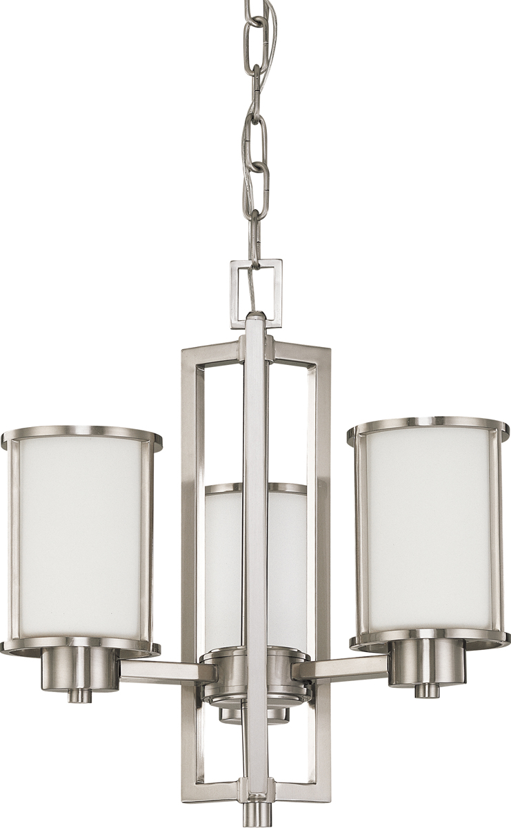 Nuvo lighting 60 2851 odeon 3 light convertible up down chandelier with s - Table transformable up down ...