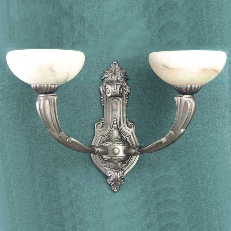 Wall Sconces Silver : Zaneen Traditional Osma Wall Sconce In Silver Leather Made In Spain - Z3112