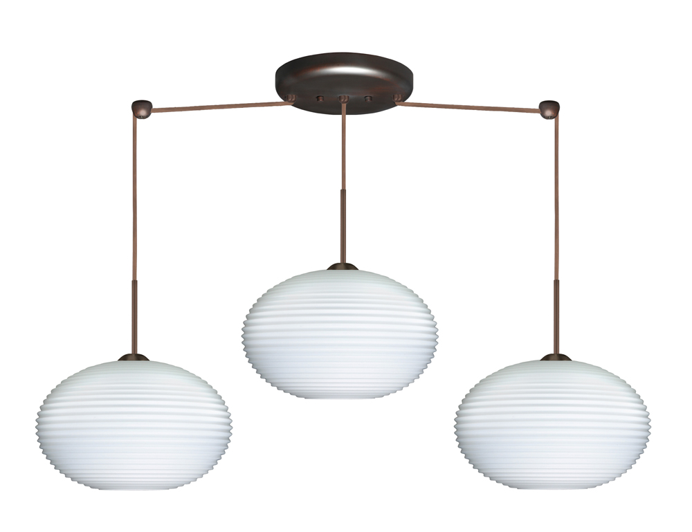 bronze with opal ribbed glass shade by besa lighting 3jb 491307 br
