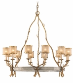 Corbett Lighting (66-012) Parc Royale 12 Light Chandelier shown in Gold And Silver Leaf