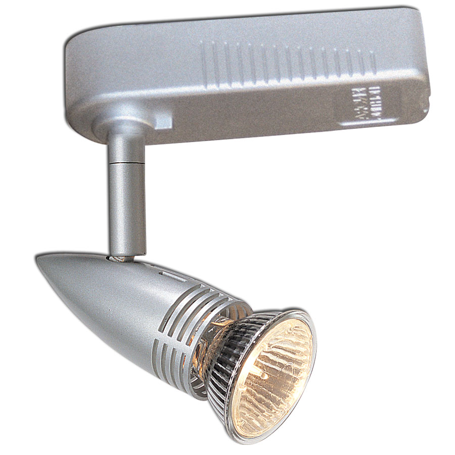Paris h style low voltage track fixture shown in silver by for Low voltage light fixtures