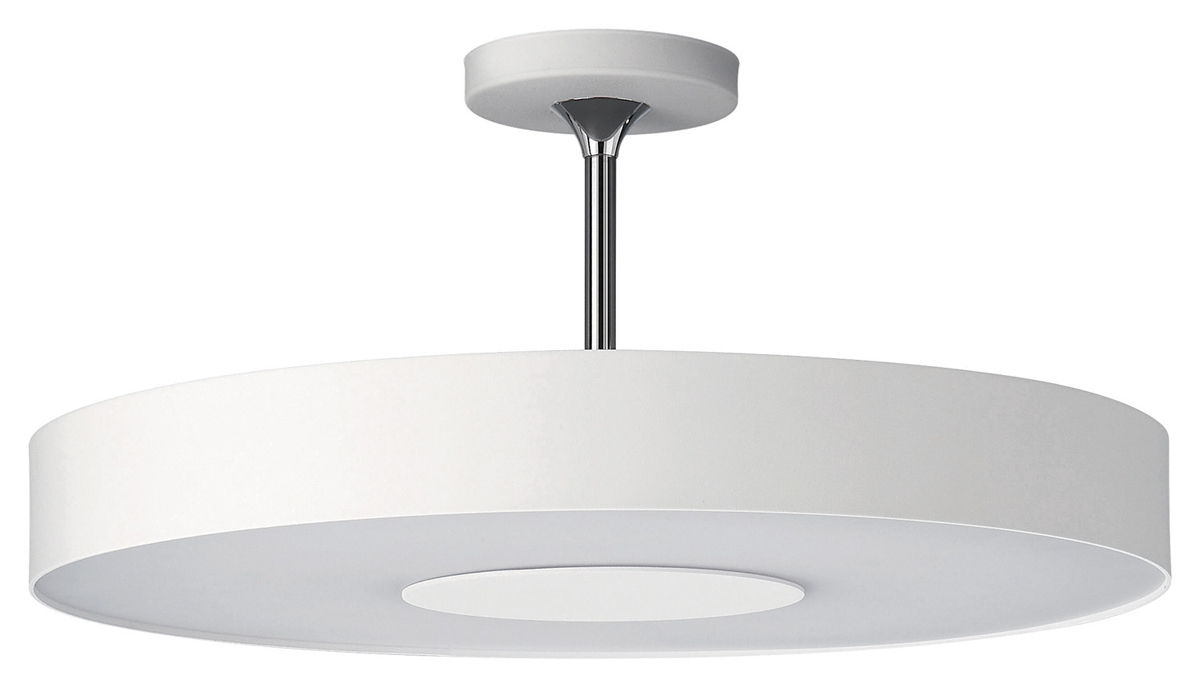 Philips lighting 302063148 discus one light contemporary for Semi flush mount lighting modern