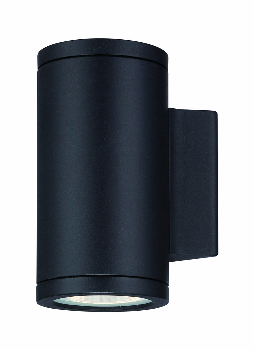 Black Exterior Wall Sconces : Philips Lighting (FL0008030) Rox LED Indoor / Outdoor Wall Sconce in Black