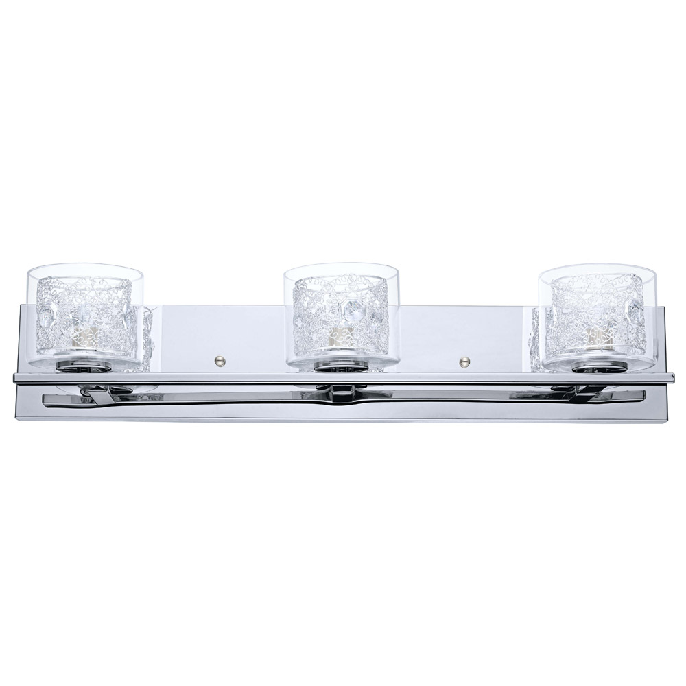 Vanity Light Clear Glass : Eglo Lighting (200265A) Pianella 3 Light Vanity Fixture in Chrome