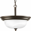 Progress Lighting (P3927-20) Alabaster 13-1/4 Inch Semi-Flush Mount