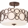 Progress Lighting (P3741-74) Bingo 2-Light Semi-Flush Mount