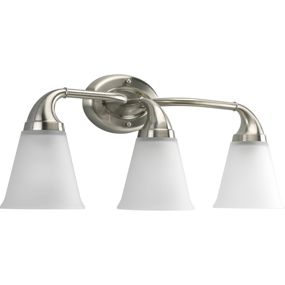 Delta Bathroom Vanity Lights : Delta Bath Match (P2760-09) Lahara 3-Light Bath & Vanity Fixture