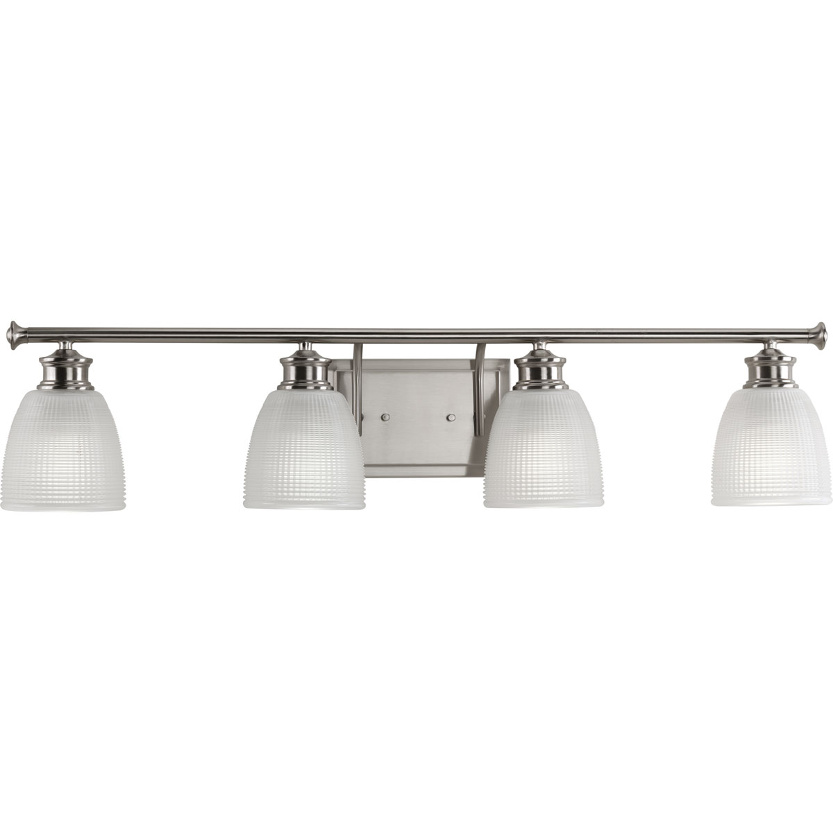 Progress lighting p2118 09 lucky 4 light bath vanity for 4 light bathroom fixture