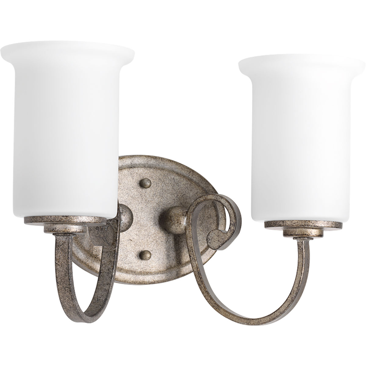 Wall Bracket Light Fixtures : Progress Lighting (P2133-144) Stroll 2-Light Wall Bracket Fixture